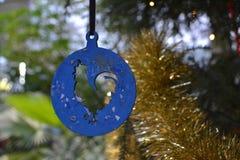 Christmas ball. Christmas, ball, cock, fir-tree stock image