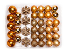 Christmas ball collection. With white background Stock Photography
