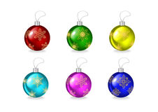 Christmas ball collection. Illustration of many-coloured Christmas ball collection Royalty Free Stock Photos