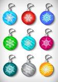Christmas ball collection Royalty Free Stock Image