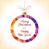 Christmas ball. Colorful Christmas ball, greeting card Vector Illustration