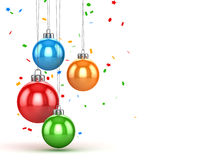 Christmas ball with confetti. This is a computer generated and 3d rendered picture Stock Images