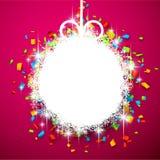 Christmas ball on confetti. Royalty Free Stock Image