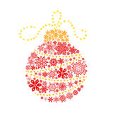 Christmas ball consisted of snowflakes and stars Royalty Free Stock Photography