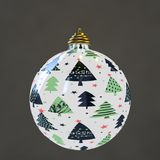 A christmas ball with cristmas trees royalty free illustration