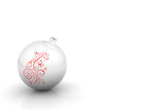 Christmas ball with curl Stock Photography