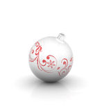 Christmas ball with curl Royalty Free Stock Photography