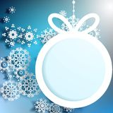 Christmas ball cutted from paper. EPS 10 Stock Photography