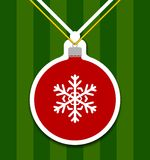 Christmas Ball Cutted From Paper Royalty Free Stock Photo