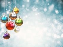 Christmas ball. 3d rendering colorful christmas ball for decoration Royalty Free Stock Image