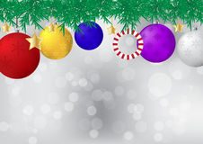 Christmas ball decorated on white background vector illustration Royalty Free Stock Photography