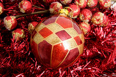 Christmas ball with decoration Stock Images