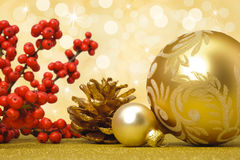 Christmas ball decoration Stock Photos
