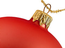 Christmas ball decoration. Red gold closeup selected Stock Images