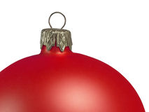 Christmas ball decoration. Red silver closeup selected Stock Photo