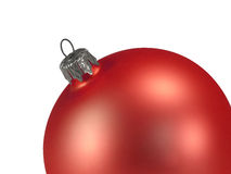 Christmas ball decoration. Red silver closeup selected Royalty Free Stock Photography