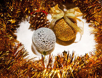 Christmas ball and decoration Stock Images