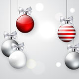 Christmas ball decoration background Royalty Free Stock Photography