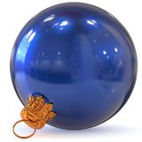 Christmas ball decoration bauble blue New Year`s Eve bauble Stock Photo
