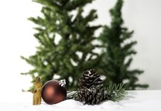 Christmas ball decoration bauble closeup New Year`s royalty free stock photography