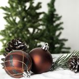 Christmas ball decoration bauble closeup New Year`s stock images