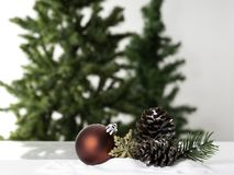 Christmas ball decoration bauble closeup New Year`s royalty free stock photo