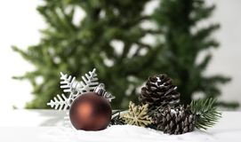 Christmas ball decoration bauble closeup New Year`s royalty free stock photos
