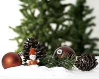 Christmas ball decoration bauble closeup New Year`s royalty free stock images
