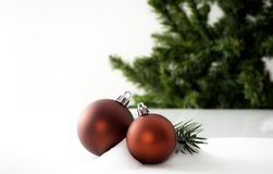 Christmas ball decoration bauble closeup New Year`s stock photos