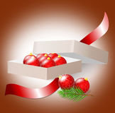 Christmas ball. Christmas decoration in the carton box Stock Photo