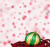 Christmas ball decoration Stock Images