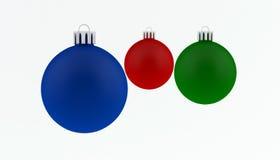 Christmas Ball decorations. Christmas Balls - ornaments for christmas tree Stock Illustration