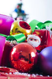Christmas ball decorations Royalty Free Stock Images