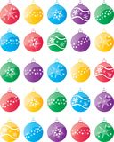 Christmas ball decorations with snowflake motif. Also available as vector illustration