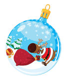 Christmas ball with deer and a bag Stock Photo