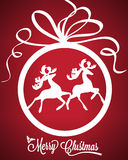 Christmas ball with deers vector illustration Royalty Free Stock Photography