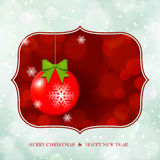 Christmas Ball on defocus shiny background Royalty Free Stock Photography