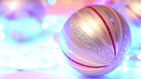 Christmas ball with defocused background stock video footage