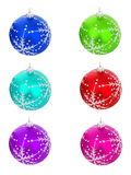Christmas ball different colors Stock Image