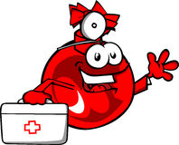 Christmas ball doctor with first aid kit Royalty Free Stock Photography