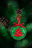 Christmas ball from felt Royalty Free Stock Photography