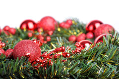 Christmas ball on fir Stock Photo
