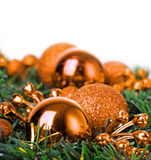 Christmas ball on fir Stock Image