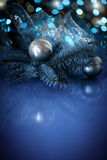 Christmas ball with fir branch Royalty Free Stock Image