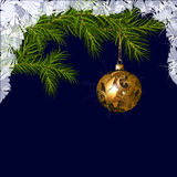 Christmas ball with fir branches Royalty Free Stock Image