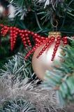Christmas ball on fir tree Royalty Free Stock Photo