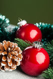 Christmas ball with fir-tree Royalty Free Stock Photography