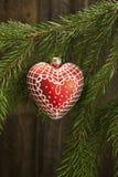 Christmas ball on fir tree Royalty Free Stock Image