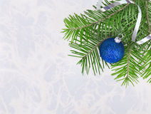 Christmas ball with fir-tree twigs Royalty Free Stock Photography