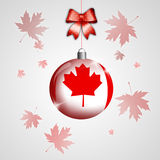 Christmas ball with flag of Canada Stock Image
